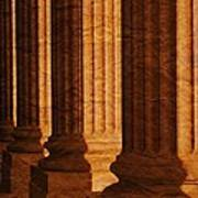 Row Of Large Columns Poster