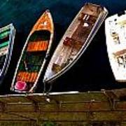 Row Of Rowboats  Poster