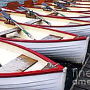 Rowboats Poster by Elena Elisseeva