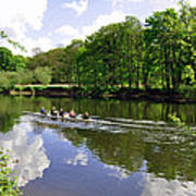 Rowing Practice - Near Branston Poster