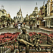 Roy And Minnie Mouse Antique Style Walt Disney World Poster