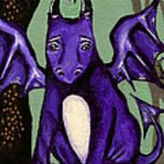 Royal Amethyst Dragon Pup Poster