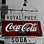 Royal Pharmacy Soda Poster by Andy Crawford