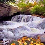 Royal River White Waterfall Poster