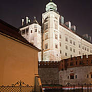 Royal Wawel Castle By Night In Krakow Poster