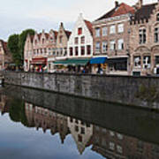 Rozenhoedkaai Bruges Poster