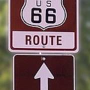 Rt 66 Signage Poster