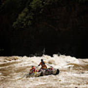 Rubber Raft Running Rapids Poster