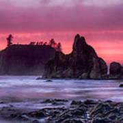 Ruby Beach Last Light Poster