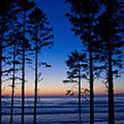 Ruby Beach Sillouette II Poster