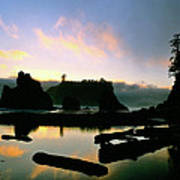 Ruby Beach Sunset Olympic National Park Poster