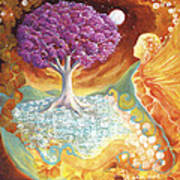 Ruby Tree Spirit Poster by Valerie Graniou-Cook