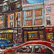 Rue Saint Laurent Club Soda Montreal Poster