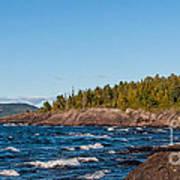 Rugged Lake Superior Coastline Poster