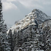 Rugged Mountain Peak With Snow Poster
