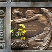 Ruggeri Roncoroni Guzzi Grave Marker Monumental Cemetery Milan Poster