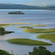 Ruins In Lough Corrib  Connemara Poster