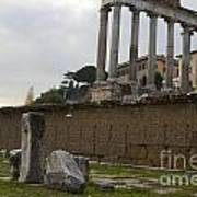 Ruins In The Roman Forum Rome Italy Poster