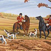 Run Fox Run Hunting Painting Commission Poster