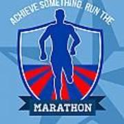 Run Marathon Achieve Something Poster Poster