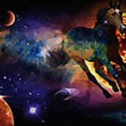 Running Horse Creation Poster