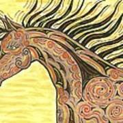 Running Wild Horse Poster