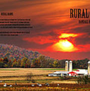 Rural Barns By Randall Branham Poster
