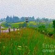 Rural Highway In Oil Paint Poster