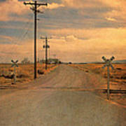 Rural Railroad Crossing Poster