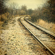 Rural Railroad Tracks Poster