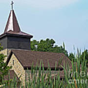 Rural Roadside Church Poster