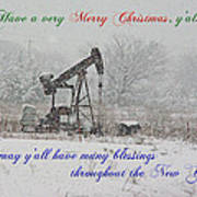 Rural Texas Christmas Poster