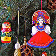 Russian Christmas Tree Decoration In Fredrick Meijer Gardens And Sculpture Park In Grand Rapids-mi Poster