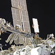 Russian Cosmonauts Working Poster