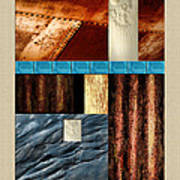 Rust And Rocks Rectangles Poster
