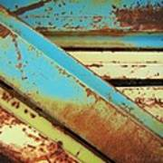 Rust N Turquoise Poster