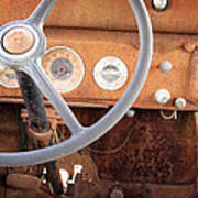 Rusted Dash Of Classic Car Poster