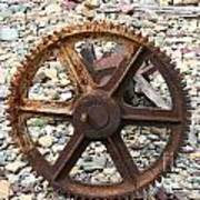 Rusted Gear Wheel Glacier National Park Montana Poster