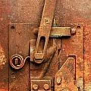 Rusted Latch Poster by Jim Hughes
