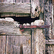 Rustic Barn Door Poster