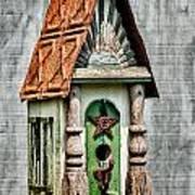 Rustic Birdhouse Poster