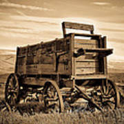 Rustic Covered Wagon Poster