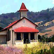 Rustic Old Schoolhouse Near San Simeon California Poster