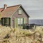 Rustic Seaside Cottage Poster