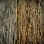 Rustic Wood Background Poster