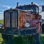 Rusty Autocar Poster