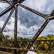Rusty Bridge In Fall Poster