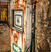 Rusty Gas Pump Poster