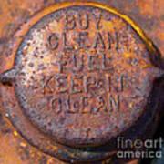 Rusty Gas Tank Cap Poster