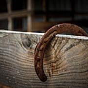 Rusty Horseshoe Poster